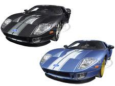 2005 FORD GT BLACK & BLUE SET OF 2 CARS 1/24 DIECAST MODELS BY JADA 97366 AB-SET
