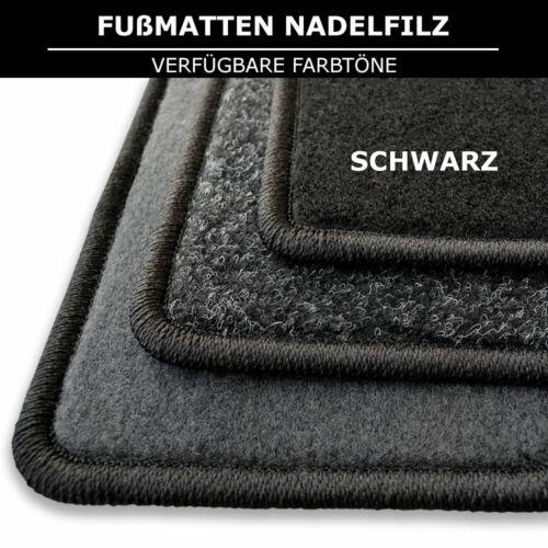 Schwarz Nadelfilz 4tlg 2013-2020 Fußmatten Passend für Hyundai i10 2 ВА