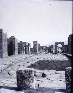 Italia Pompei Ruines Maisons, Negativo Foto Stereo Placca Lente VR10L11n10