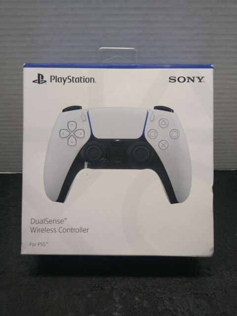 Sony Playstation Five DualSense Wireless Controller Cordless White w Microphone