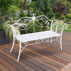 Garden Chair Bench Outdoor Indoor Patio Loveseat Metal