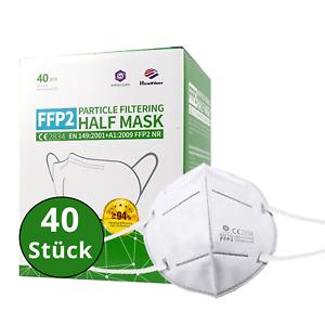 40 Stück - FFP2 Maske, Atemschutzmaske, CE2834, EN149:2001+A1:2009 FFP2 NR