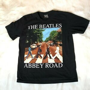 Vintage-The-Beatles-Men-039-s-Size-Large-Abbey-Road-Shirt-Single-Stitch-2-Sided