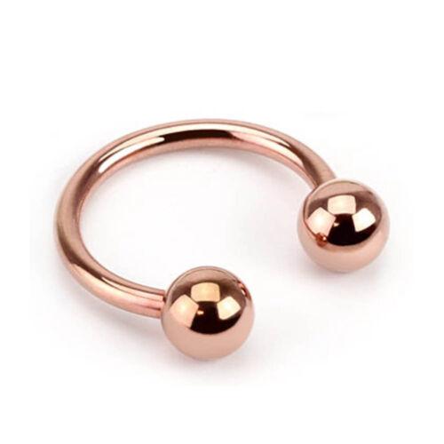 Lèvres Piercing sourcils Langue Nez joint d/'étanchéité Piercing Tragus Rose Gold z419