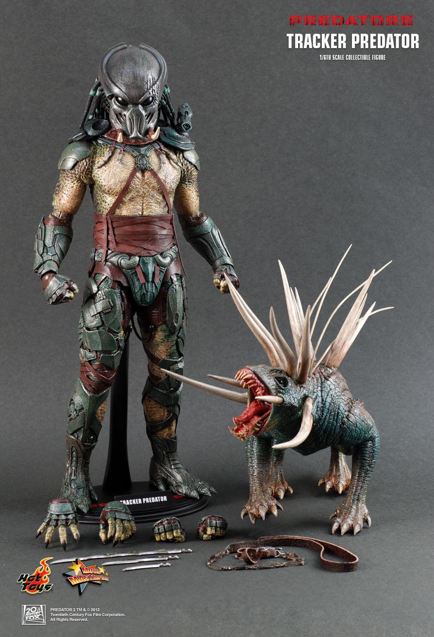 HOT TOYS 16 depredadores MMS147 Rastreador Predator Con Hound Figura De Acción