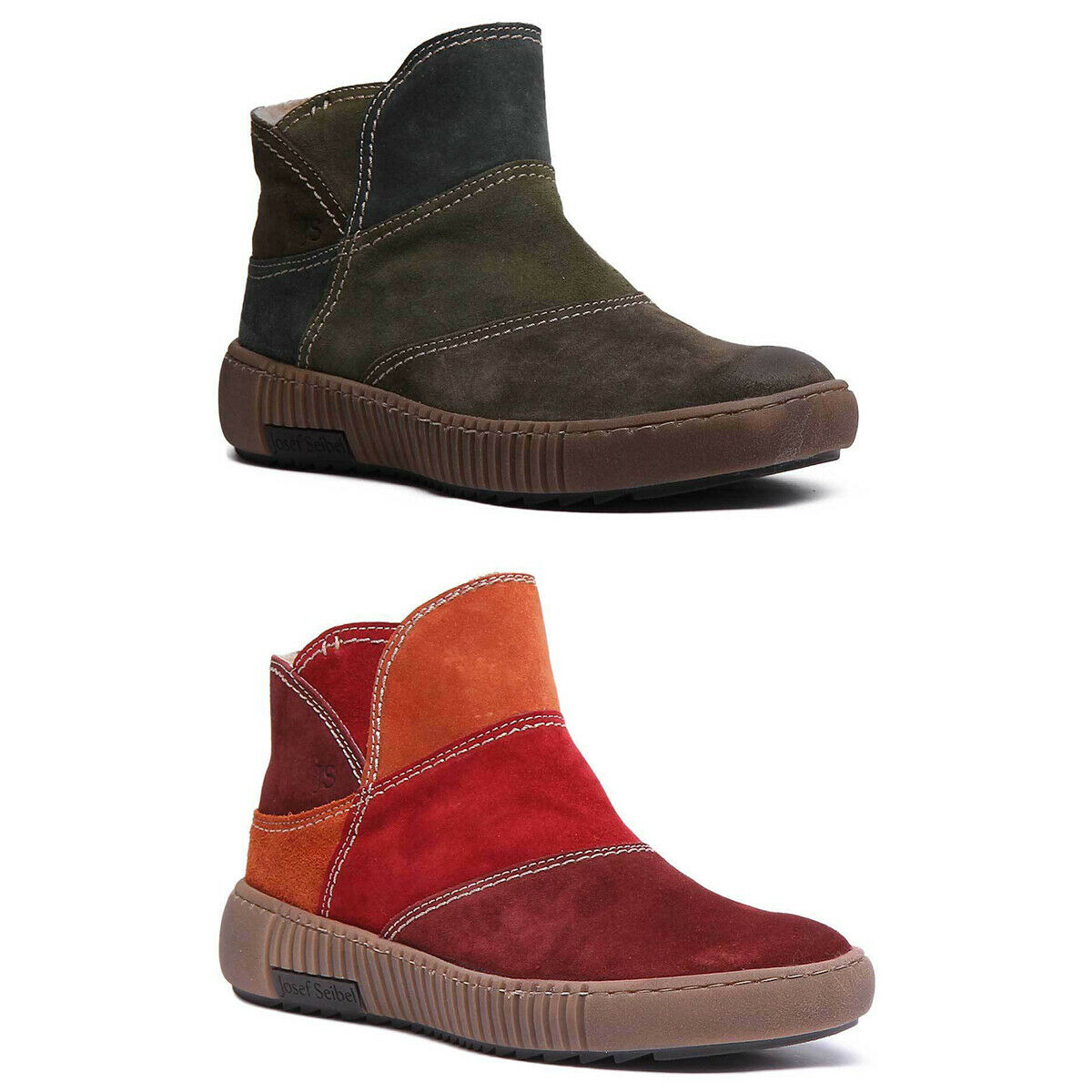 Josef Seibel Maren 04 Womens Suede Casual Ankle boots In Red Size UK 3-8
