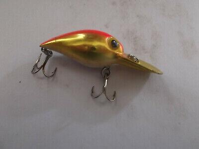 Older Pre Rapala Storm Wiggle Wart,V-109,Gold Fluorescent Red Back