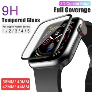 For-Apple-Watch-Series-1-2-3-4-5-iWatch-3D-Tempered-Glass-Screen-Protector-Cover