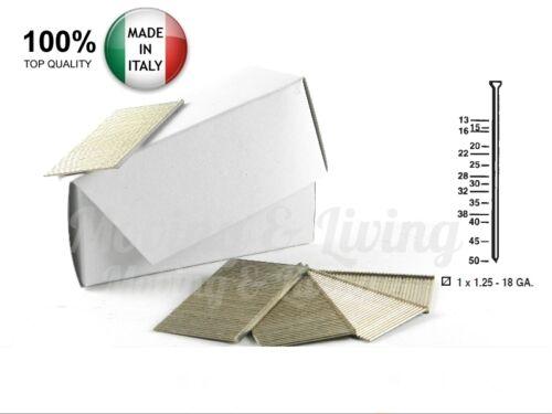 10.000 Groppini Metallici Serie NP H.25mm 18GA Chiodini tipo Minibrad x Groppi