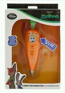 Disney Zootopia Carrot Recorder Pen! Exclusive Judy Hopps Store Bunny EASTER