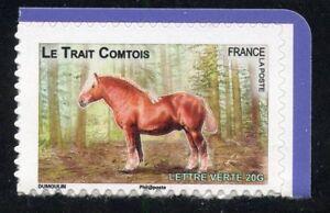 STAMP-TIMBRE-FRANCE-AUTOADHESIF-N-818-FAUNE-CHEVAUX-DE-TRAIT-DE-NOS-REGION