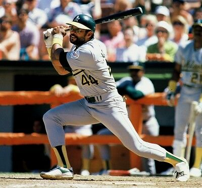 1987  REGGIE JACKSON Oakland A/'s BASEBALL ACTION Glossy Photo 8x10 PICTURE WOW!!