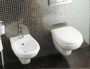 Bagno Francese Senza Bidet : Sanitari bagno lara sospesi water bidet sedile in termoindurente ebay