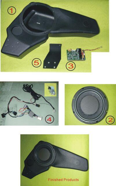 """PT Cruiser 8"""" Subwoofer 80 watt digital amplifier & crossover Chrysler Speaker"""