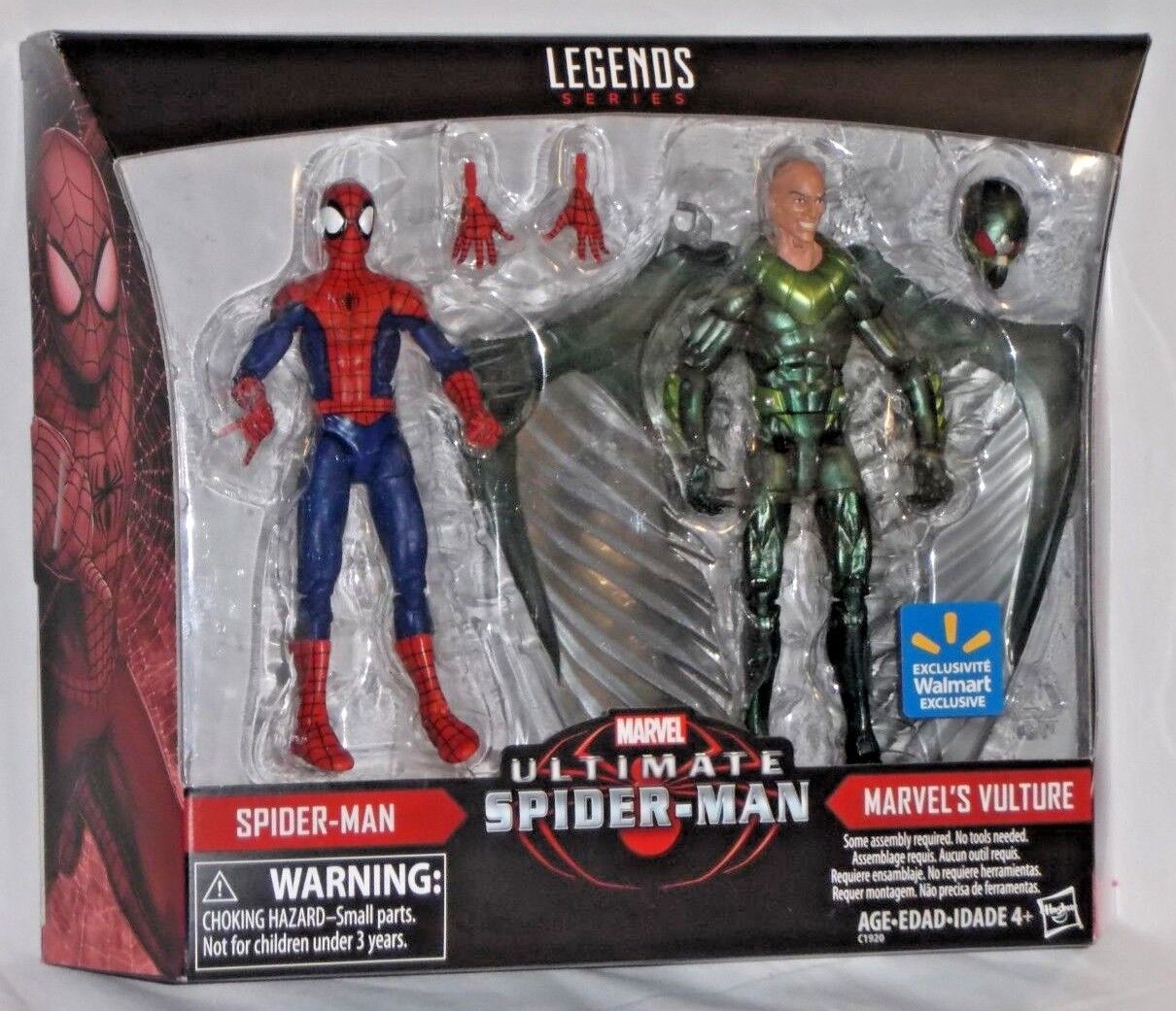 WALMART Exclusive Marvel Legends ULTIMATE SPIDERMAN vs VULTURE Action Figure set