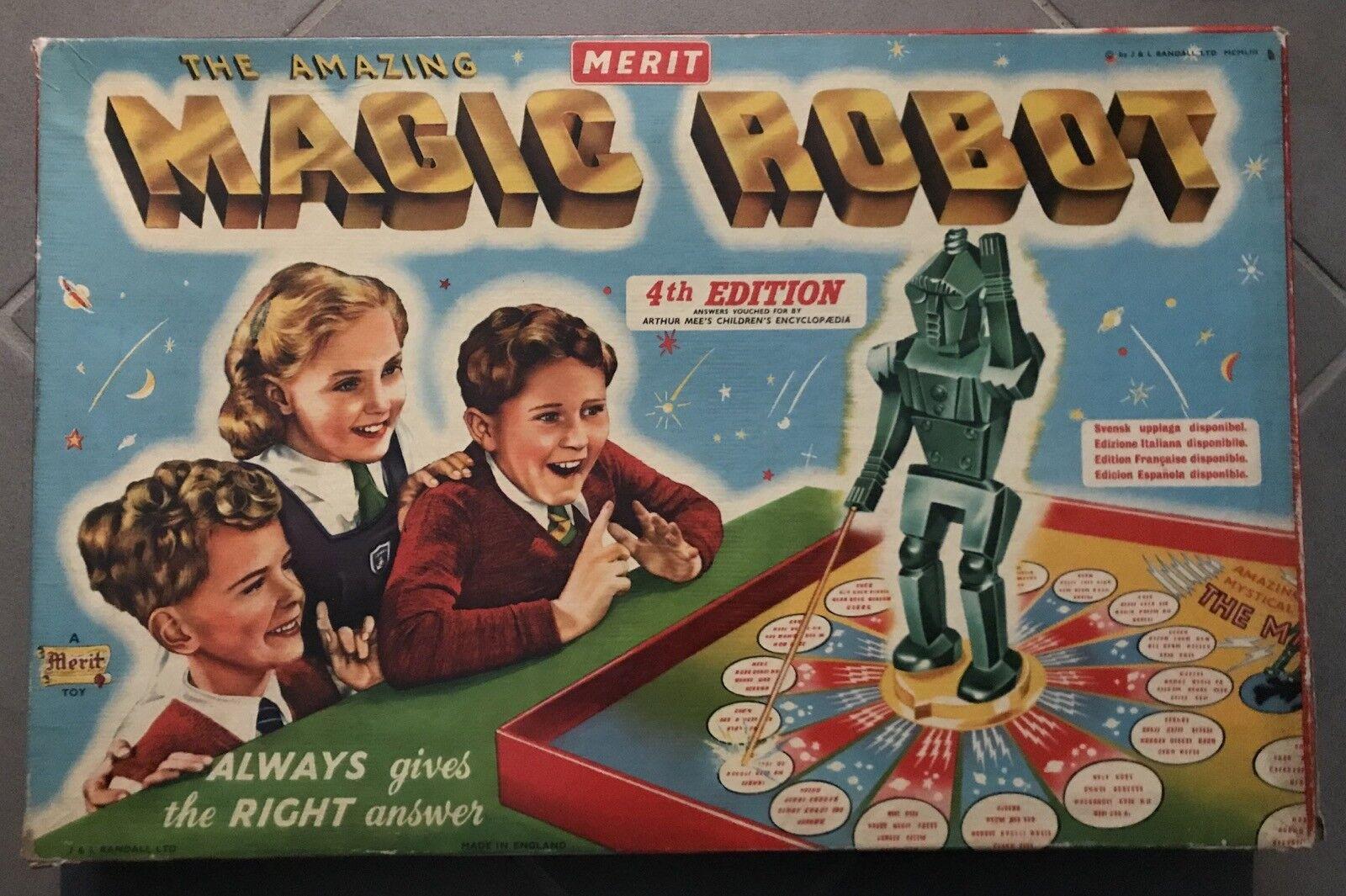 Gioco game scatola THE AMAZING ROBOT randall box 60s anni 60