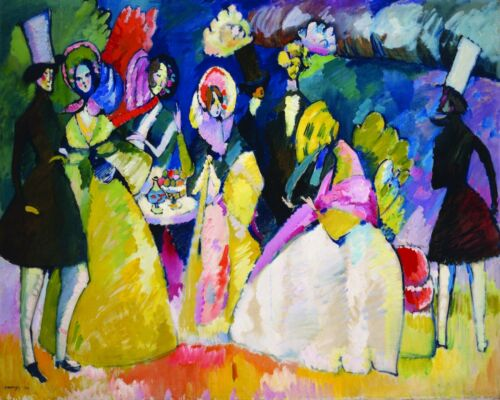 Van-Go Paint-By-Number Kit Group in crinolines by Wassily Kandinsky