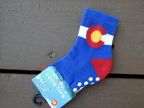 Colorado Flag Baby Socks--3 pair
