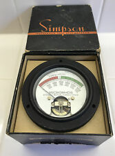 1 Rare Vintage Simpson Model 5131 Replacement Panel Meter Tube Tester
