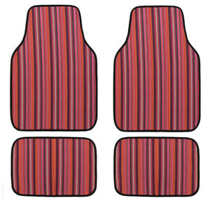 Universal-Ethnic-Car-Floor-Mats-Fashion-Elastic-Linen-For-SUV-Van-Sedan-4-pcs