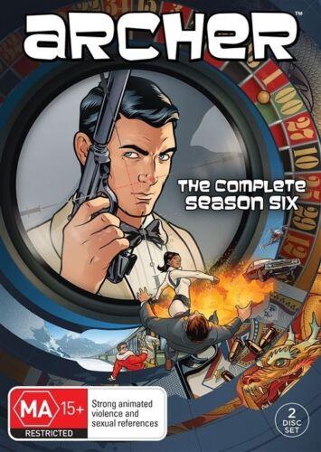 1 of 1 - Archer : Season 6 (DVD, 2016, 2-Disc Set)