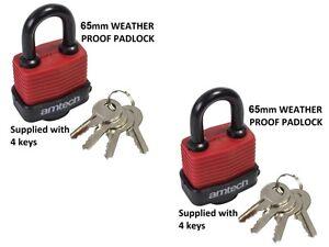 2-resistant-aux-intemperies-DURABLE-65mm-securite-cadenas-4-cles-garage