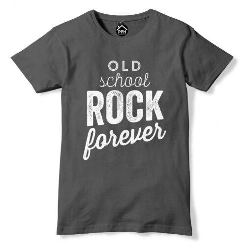 Old Skool Rock Forever T Shirt Music Heavy Metal Death Roll Emo Goth Punk 370