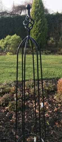 Climbing Plant Cage Support Frame Large 1.7m Drewton Metal Garden Obelisk