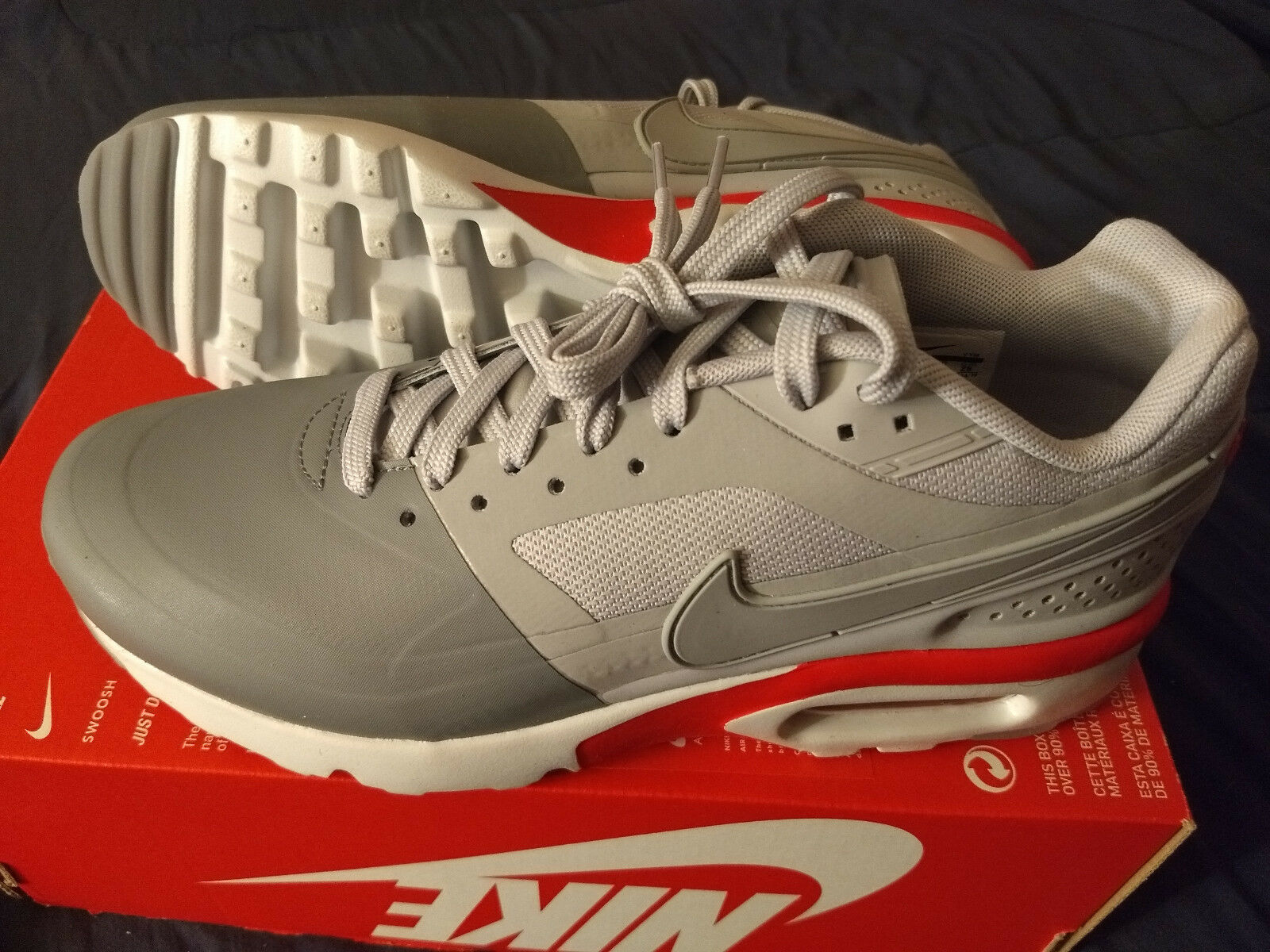 Nike Air Max BW Ultra SE cool wolf grey men's shoe size 9.5 844967 005 NEW