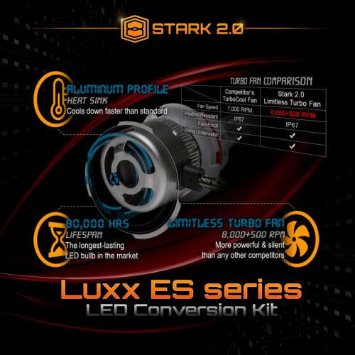 Stark 80W 9000LM Flip COB Chip LED Kit 6000K Headlight Hi 9004 HB1 Lo