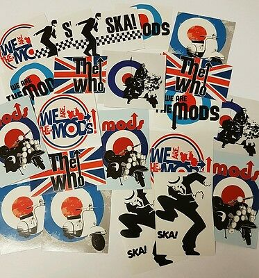 Mod For It  Scooter Sticker Mod Stickers Mod Bands Quadrophenia
