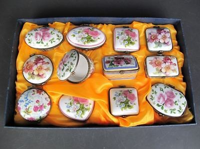 DemüTigen Porzellan Dosen Set Von 12 St L.4-8 Cm Töpfe & Zierschale Vintage Geschenk Attraktiv Und Langlebig