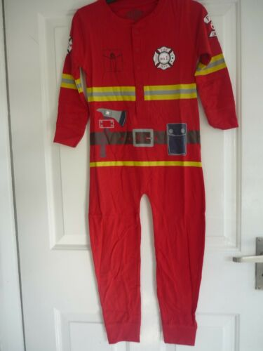 Boys All-in-On sleepwear Fireman or racing driver 2 to 7 yrs Cotton