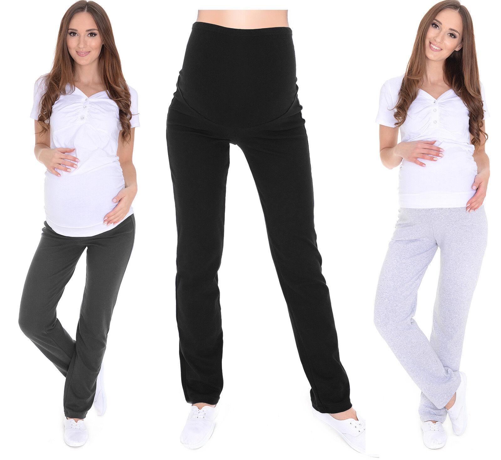 6fda8b5891fae Mija - Maternity Casual Comfortable Yoga Trousers Over Bump 3010 16 Navy  for sale online   eBay