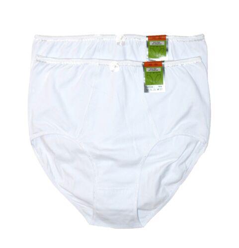 2 Damen slip Unterhosen 100/% Baumwolle Größe 52//54 Farbauswahl