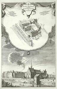 Antique-map-De-Oude-Nonnen-genaamt-Marien-Kamp