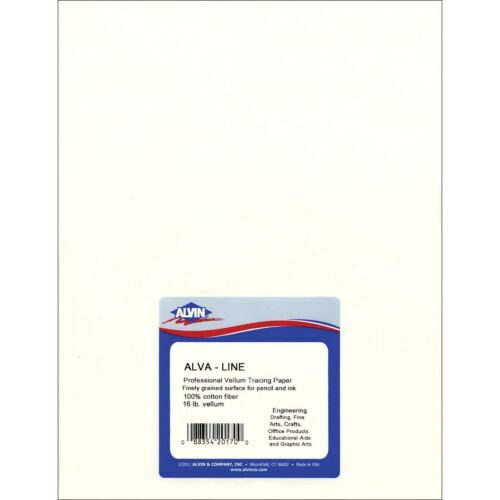 "100/% Rag Drafting Vellum Sheets 10 Sheet Package 18x24/"""