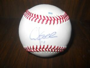 CHUCK-KNOBLOCK-Twins-and-Yankees-Signed-Baseball-Rare-Autographed