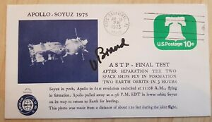 Nasa ASTP CP Vance Brand original signed Space Cover, Space Shuttle, Astro Soyuz