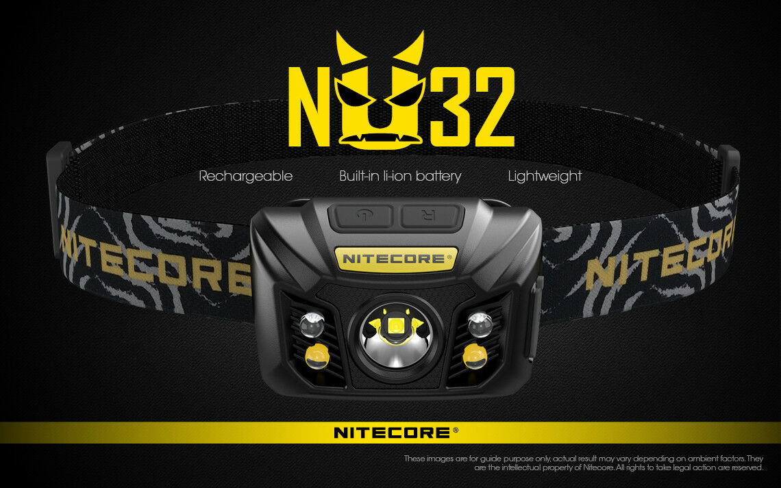 NITECORE NU32 RECHARGEABLE 550 LUMEN LED HEADLAMP