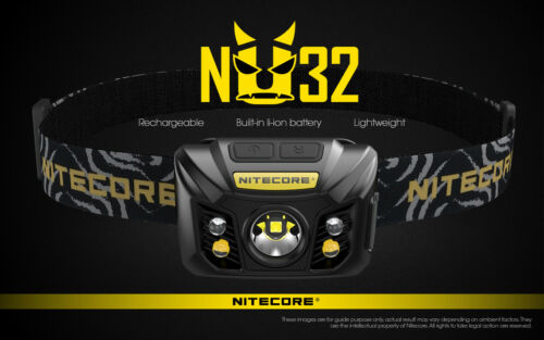 NITECORE NU32 RECHARGEABLE 550 LUMEN LED HEADLAMP