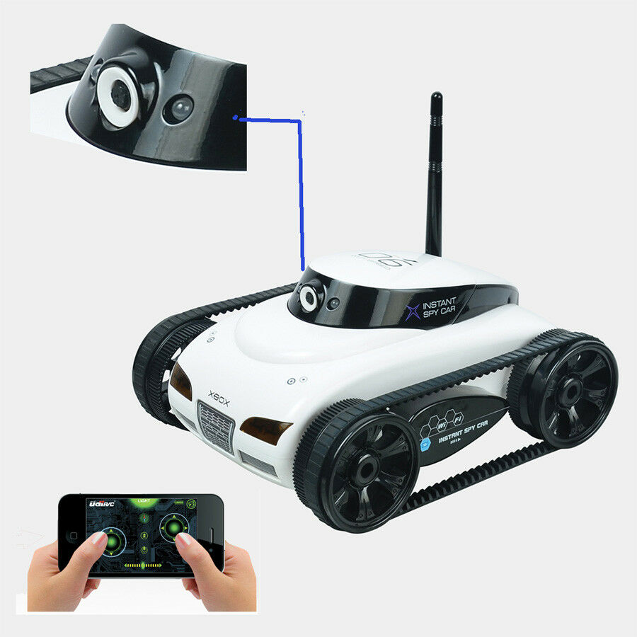 Wifi 4CH Instant RC Tank Car controlled by iPhone mobile w  Live Video Camera