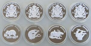 Malawi-4x-10-Kwacha-2005-Bedrohte-Tierwelt-pp-proof