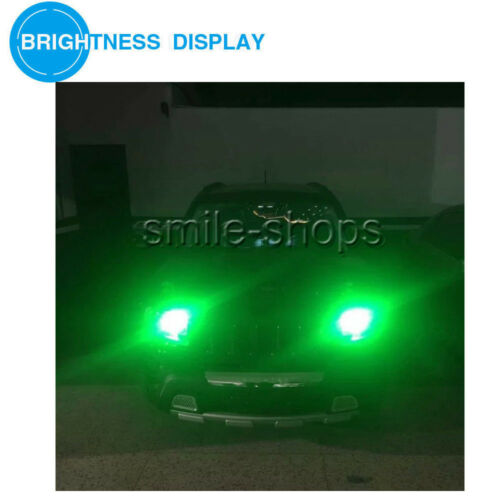 2pcs Green 1156 BA15S P21W 92 4014 SMD Extremely Bright LED Bulbs+Projector Lens