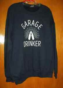Men-039-s-034-Garage-Drinker-034-Graphic-Shirt-Size-L-By-Gildan