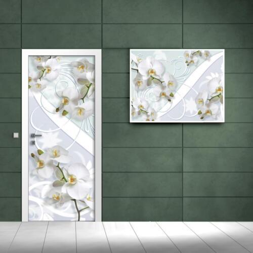 Nappes porte türfototapeten Papier peint route Blanc Orchidée 1611 Vet