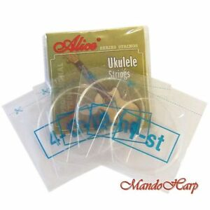 Alice-AU04-Soprano-Ukulele-Strings-A-D-F-B-Clear-Nylon-0-022-0-032