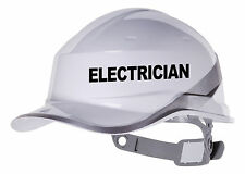2X Électricien Solide Chapeau Vinyle Décalcomanie. Entrepôt Sticker