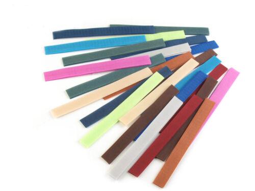 Cierre de velcro 20mm cinta de velcro Mix 3 ganchos banda semitransparente coser