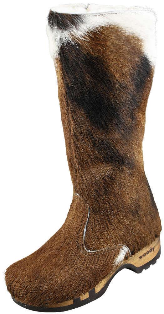 Woody Bottes pour Femme Belinda Chaussures à Enfiler Fourrure Naturelle 36 - 42